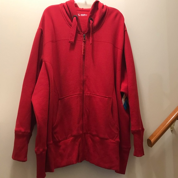 44fda79d815 JMS Red ZIP Up hoodie w front pockets. NWT 5X
